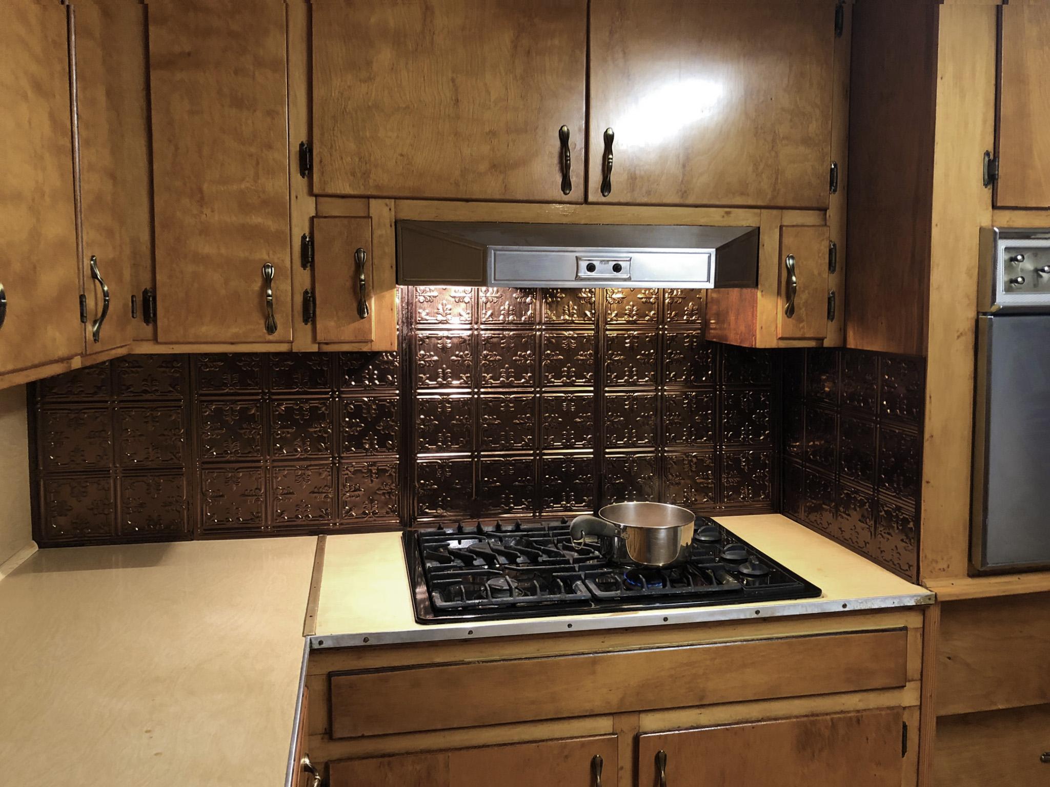 kitchen stove closeup